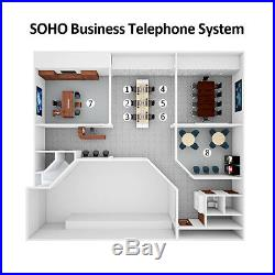110V SOHO PABX PBX System Phone Switch 2 x 8 Extensions for Small Office Home