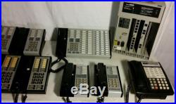 AT&T Lucent Avaya Merlin Plus 820D Phone System With 9 Phones, Operator Terminal