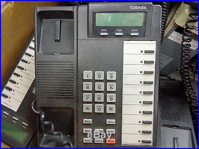 A large lot of 36 pcs- Toshiba PBX and Phones Lot -Rock the office