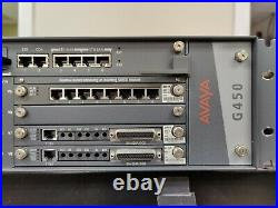 Avaya G450 Media Gateway with MB450 S8300 MM717 MM711 MM710 Cards G450MP80