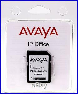 Avaya IP Office IP 500 v2 FEATURE SD CARD Voicemail Pro (6) + Many More