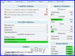 Freepbx Asterisk VOIP Server A2Billing 1 Gbps Hosted PBX Unlimited Extension