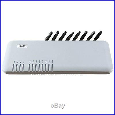 HOT! Quad Band GSM VoIP gateway 8-channel GSM GoIP 8 Sim cards 7 years warranty