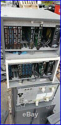 LOT OF 10 Mitel SX-200 PBX Phone System Cabinets ONS Card Dig Cards Power Supply