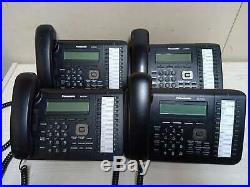 Lot of 4 Panasonic KX-DT543 24 Button 3-Line Backlit LCD Display system Phone