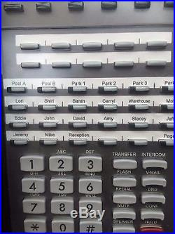 Lot of 7 NEC 1090021 DSX 34B BL Display Tel (BK) Telephone 34 Button with Display