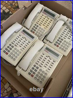 Lucent Avaya Partner ACS R6 Office Phone System with 4 White 18D Phones