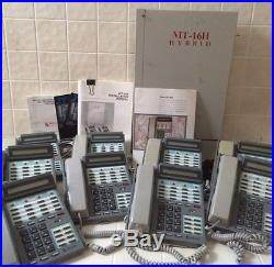 MacroTel MT-16H Hybrid phone system with nine (9) MT-16T LCD phones