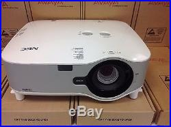 NEC NP1150 PROJECTOR With WIRELESS ADAPTER BULB AT 100%