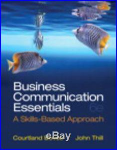 NEW Business Communication Essentials with Access Code A Skills-Based Approach
