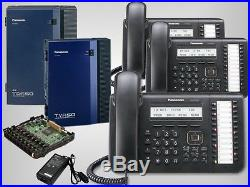 NEW Panasonic KX-TDA50G System with Voicemail KX-TVA50 and 3 KX-DT543B Phones