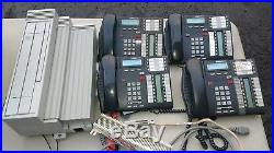 NORTEL NORSTAR PLUS COMPACT ICS PHONE SYSTEM with 4 Phones