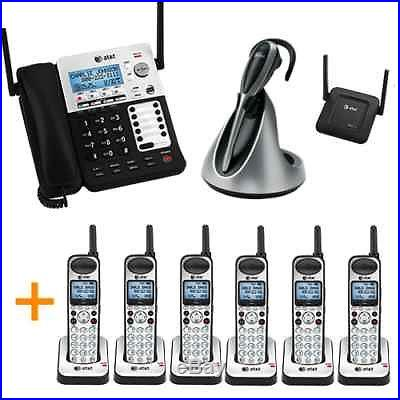 New AT&T SynJ 4-line 7 Phone System for Warehouse +Cordless +2way Radio +Headset