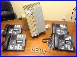 Nortel Norstar Office Phone System Meridian with 4 M7310 Phones