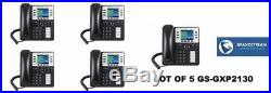 Office PBX System with 5 Grandstream GXP2130 phones + 1 year dialtone service