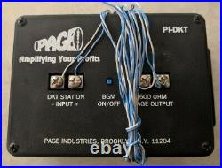 Page Industries PI-DKT paging module for Toshiba CTX/CIX Digital Phone Systems
