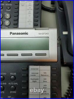 Panasonic KX Phone System TDA50, TVA50, 5 DT343, 7 T7633, with AC & Phone Cord