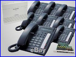 Panasonic KX-TA824 System with 3x8 Expansion Card and 8 KX-T7730 Black Phones