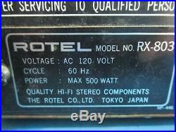 RARE ROTEL RX-803 Stereo Receiver USED