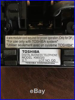 Toshiba Strata phone system CIX100 with17 Phones, (15)DP5032, (2) DP5022, (3) KM5020
