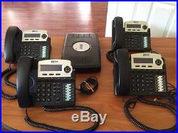 X16 Small Office Digital Phone System Bundle with 4 Phones-Charcoal